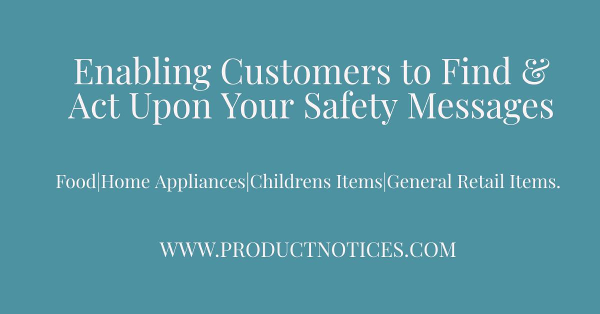 Enabling customers to find recalls